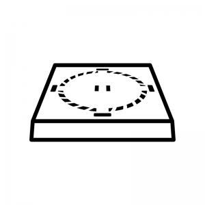 土俵の白黒シルエットイラスト02