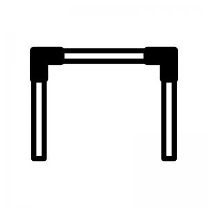 鉄棒のシルエット 無料のaipng白黒シルエットイラスト