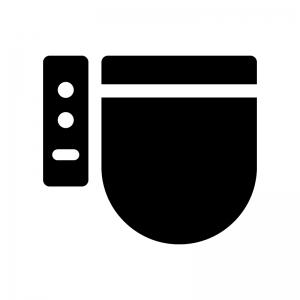 洋式トイレの白黒シルエットイラスト02