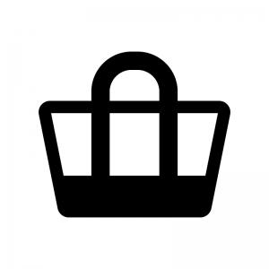 トートバッグのシルエット04 無料のaipng白黒シルエットイラスト