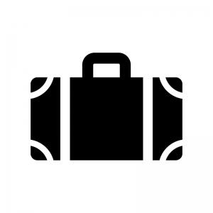 トランク・キャリーバッグの白黒シルエットイラスト