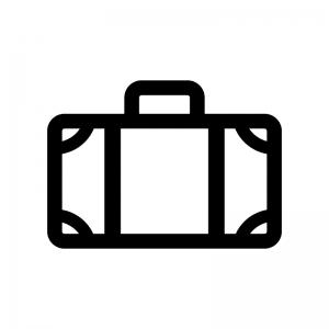 トランク・キャリーバッグの白黒シルエットイラスト02