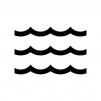 波の白黒シルエットイラスト02