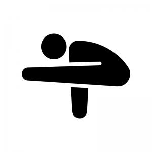 ヨガの蛍のポーズの白黒シルエットイラスト