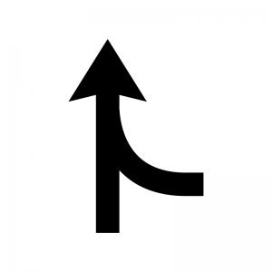 ルートガイド・合流の白黒シルエットイラスト03