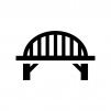 橋の白黒シルエットイラスト03