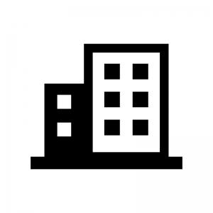 ビル群のシルエット 無料のaipng白黒シルエットイラスト