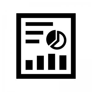 ビジネス資料の白黒シルエットイラスト03