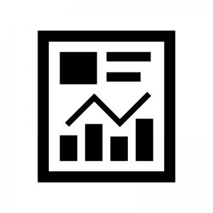 ビジネス資料の白黒シルエットイラスト04