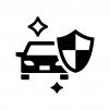 車のコーティングの白黒シルエットイラスト02