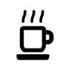 コーヒーカップの白黒シルエットイラスト05