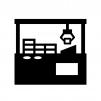 クレーンゲームの白黒シルエットイラスト04