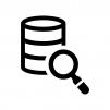 データベースを検索の白黒シルエットイラスト02
