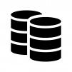 データベースの白黒シルエットイラスト05