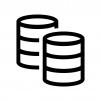 データベースの白黒シルエットイラスト06