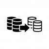 データをバックアップの白黒シルエットイラスト02