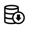 データをバックアップの白黒シルエットイラスト06