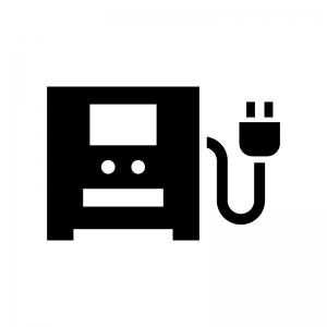 UPS(無停電電源装置)の白黒シルエットイラスト
