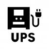 UPS(無停電電源装置)の白黒シルエットイラスト02