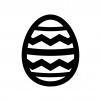 イースターエッグの白黒シルエットイラスト