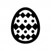 イースターエッグの白黒シルエットイラスト05