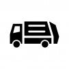 ゴミ収集車・清掃車の白黒シルエットイラスト