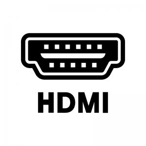 HDMIのソケットの白黒シルエットイラスト