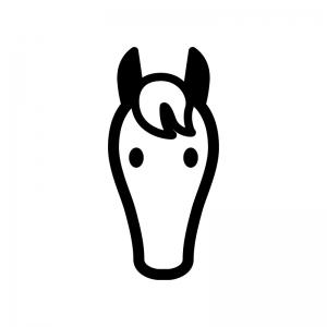馬の顔のイラスト かわいいフリー素材が無料のイラストレイン