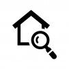 家の検査の白黒シルエットイラスト