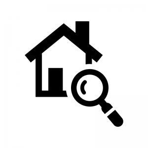 家の検査の白黒シルエットイラスト02