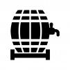 樽の白黒シルエットイラスト02