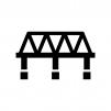 橋の白黒シルエットイラスト07