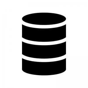 データベースの白黒シルエットイラスト03