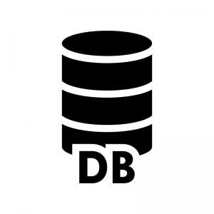 データベースの白黒シルエットイラスト04