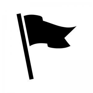 フラッグのシルエット07 無料のaipng白黒シルエットイラスト