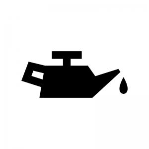 エンジンオイルの白黒シルエットイラスト03