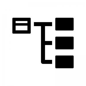 サイトマップの白黒シルエットイラスト03