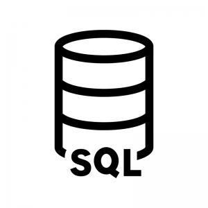 SQLサーバの白黒シルエットイラスト02