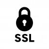SSL通信の白黒シルエットイラスト