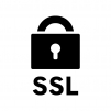 SSL通信の白黒シルエットイラスト03
