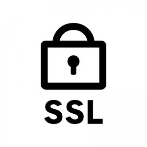 SSL通信の白黒シルエットイラスト04