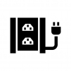 UPS(無停電電源装置)の白黒シルエットイラスト03