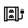 UPS(無停電電源装置)の白黒シルエットイラスト04