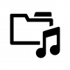 音楽フォルダの白黒シルエットイラスト03