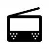 ワンセグ・ポータブルテレビの白黒シルエットイラスト05