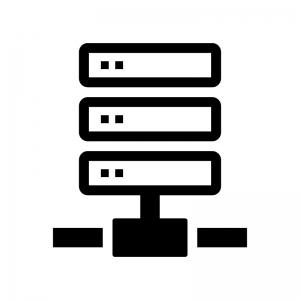 サーバ・NAS・ネットワークの白黒シルエットイラスト02