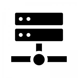 サーバ・NAS・ネットワークの白黒シルエットイラスト03