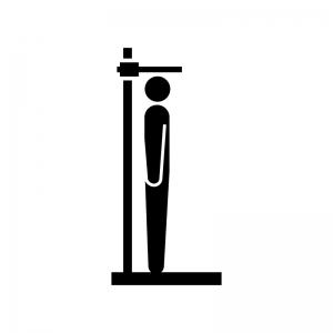 身長測定のシルエット02 | 無料のAi・PNG白黒シルエットイラスト