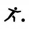 ボウリングの白黒シルエットイラスト04