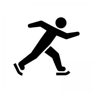 スケートの白黒シルエットイラスト